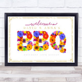 BBQ Summer Floral & Gold Personalised Event Occasion Party Decoration Sign