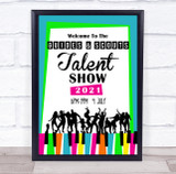 Talent Show Bright Music & Dance Personalised Event Party Decoration Sign