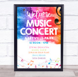 Local Live Music Concert Colourful Music Personalised Event Party Sign