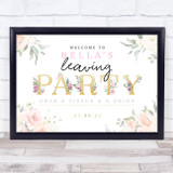 Leaving Gold & Rose Personalised Event Occasion Party Decoration Sign