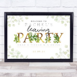 Leaving Gold & Vine Personalised Event Occasion Party Decoration Sign