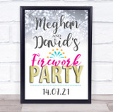 Firework Occasion Personalised Event Occasion Party Decoration Sign