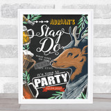 The Modern Stag Do Chalk Beer Personalised Event Occasion Party Decoration Sign