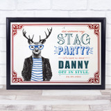 Hipster What Goes On Stag Stays On Stag Do Personalised Event Party Sign