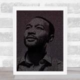 John Legend All Of Me Face s Music Song Lyric Wall Art Print