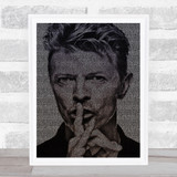 David Bowie Heroes Face s Music Song Lyric Wall Art Print