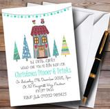 Xmas Dinner & Drinks Customised Christmas Party Invitations