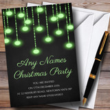 Green Lights Chalk Effect Customised Christmas Party Invitations