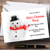Cute Snowman Customised Christmas Party Invitations