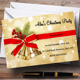 Golden Bells Customised Christmas Party Invitations