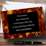 Golden Snowflakes Customised Christmas Party Invitations - XI19