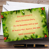 Holly And Berries Customised Christmas Party Invitations