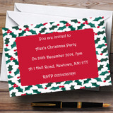 Holly Customised Christmas Party Invitations