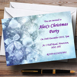 Pale Blue Customised Christmas Party Invitations