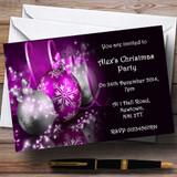 Purple Customised Christmas Party Invitations