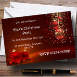 Red Decs Customised Christmas Party Invitations