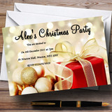 Red Present Customised Christmas Party Invitations