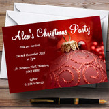 Red Customised Christmas Party Invitations
