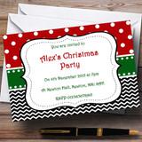 Seasonal Colours Customised Christmas Party Invitations