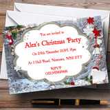 Silver Frames Customised Christmas Party Invitations