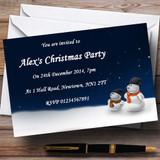 Snowmen Customised Christmas Party Invitations
