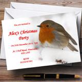 Stunning Robin Customised Christmas Party Invitations