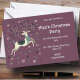 Xmas Reindeer Customised Christmas Party Invitations