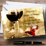 Wine Customised Christmas Party Invitations