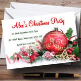 Xmas Decs Customised Christmas Party Invitations