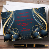 Blue Customised Christmas Party Invitations