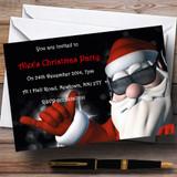 Cool Santa Customised Christmas Party Invitations