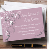 Lilac Vintage Shabby Chic Pattern Customised Engagement Party Invitations