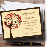 Shabby Chic Bird Tree Brown Vintage Customised Engagement Party Invitations