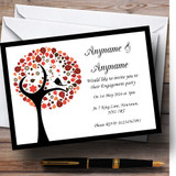 Shabby Chic Bird Tree Brown Vintage Black Customised Engagement Party Invitations