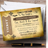 Scary Ticket Customised Halloween Party Invitations
