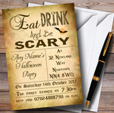 Eat Drink Be Scary Customised Halloween Party Invitations