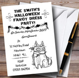 Fancy Dress Customised Halloween Party Invitations