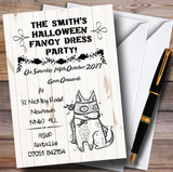 Scary Fancy Dress Customised Halloween Party Invitations
