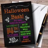 Colourful Chalk Style Customised Halloween Party Invitations