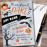 Come If You Dare Scary Night Customised Halloween Party Invitations