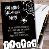 Black & White Spider web Customised Halloween Party Invitations