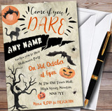 Come If You Dare Scary Customised Halloween Party Invitations
