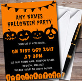 Scary Pumpkin & Graves Customised Halloween Party Invitations