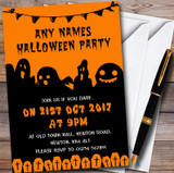 Scary Ghosts & Graves Customised Halloween Party Invitations
