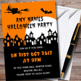 Scary Haunted Houses Customised Halloween Party Invitations