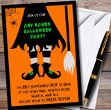 Witches Legs Customised Halloween Party Invitations