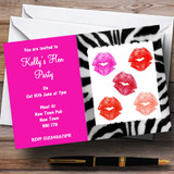 Hen Lipstick Kisses Makeover Hen Customised Hen Do Night Party Invitations