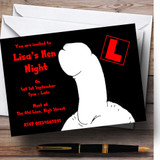 Naughty Willy Customised Hen Do Night Party Invitations