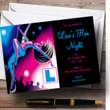 Pole Dancing Sexy Lady Customised Hen Do Night Party Invitations