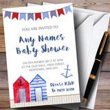 Beach Hut Watercolour Invitations Baby Shower Invitations